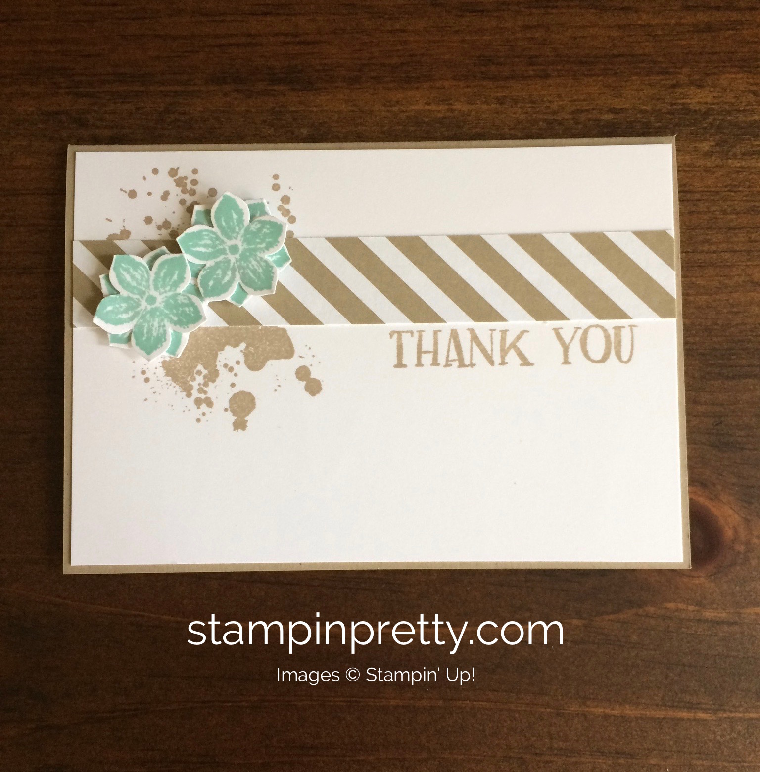 Quick thank you note card trio stampin 39 pretty for Mary fish stampin up