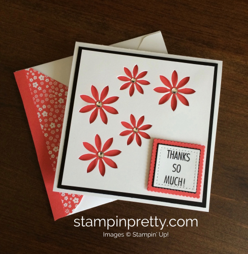 Stampin Up Succulent Thank You cards ideas - Mary Fish stampin up