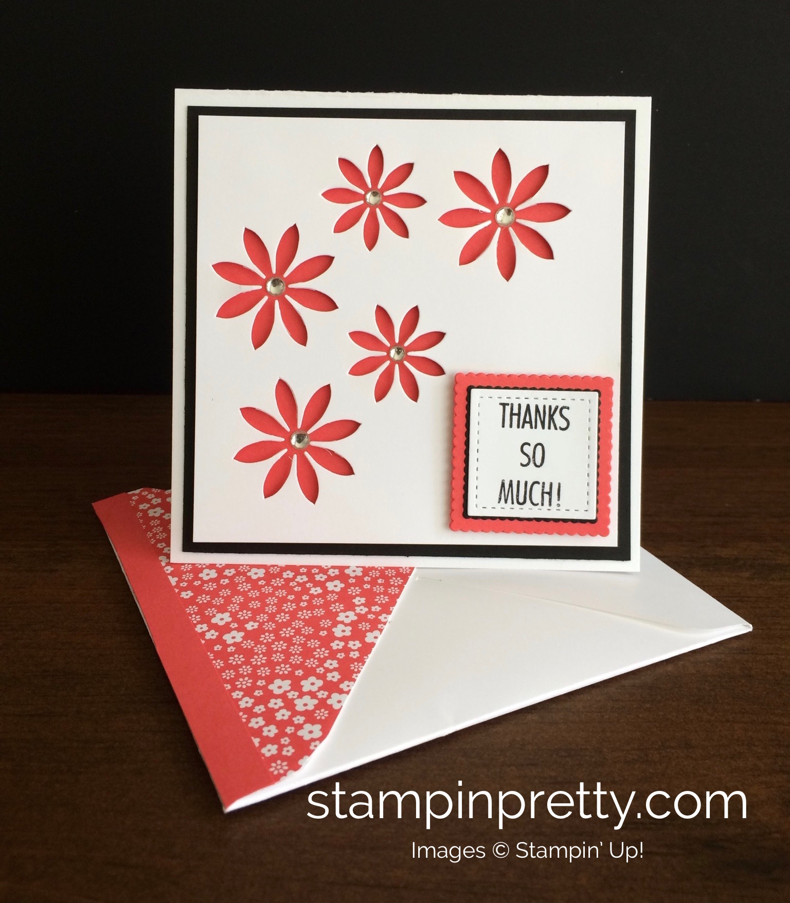 Simple Pretty Thank You Card Free Pdfs Stampin Pretty