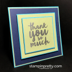 Inspired by Color: Square Thank You Card