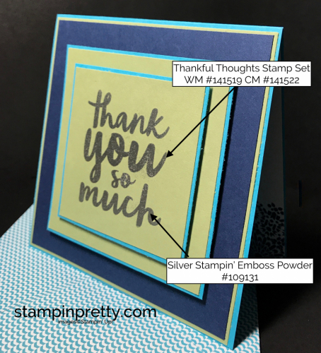 Stampin Up Thankful Thoughts Thank you cards Inspired by Color Mary Fish Stampinup