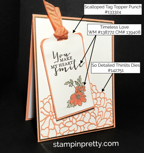 Stampin Up Timeless Love So Detailed Thinlits Dies Love card ideas Mary Fish Stampinup