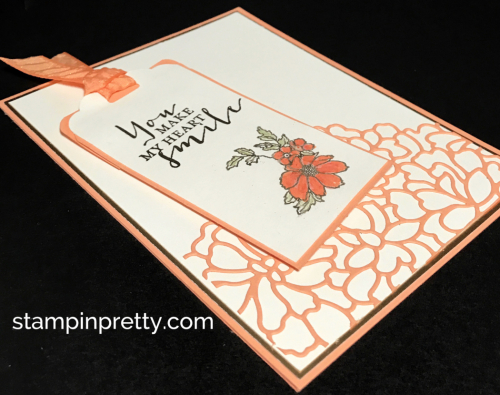 Stampin Up Timeless Love So Detailed Thinlits Dies Peekaboo Peach Love card Mary Fish Stampinup