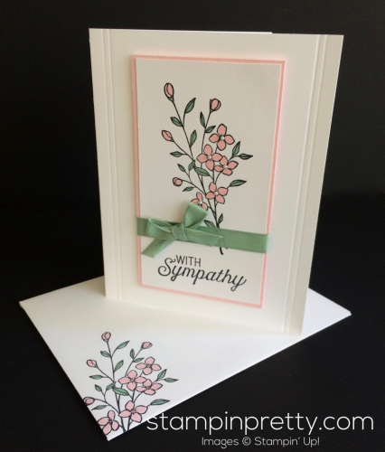 Stampin Up Touches of Texture Sympathy card - Mary Fish stampinup