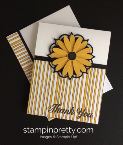Stampin Up Daisy Delight Thank You Card Idea - Mary Fish stampinup