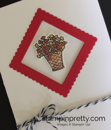 Stampin Up At Home With You Thank You card idea - Mary Fish stampinup