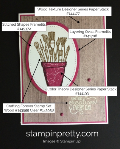 Stampin Up Crafting Forever Just Because Cards Idea - Mary Fish stampinup