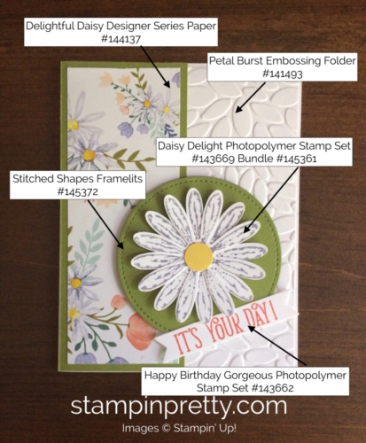 Stampin Up Daisy Delight Birthday Cards Ideas - Mary Fish stampinup