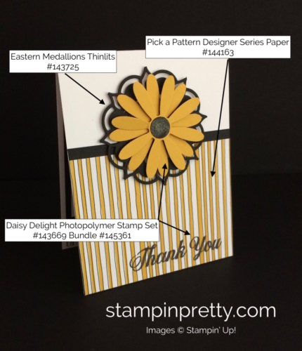 Stampin Up Daisy Delight Thank You Card Ideas - Mary Fish stampinup