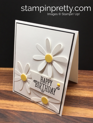 Stampin Up Daisy Punch Birthday Card Idea - Mary Fish StampinUp