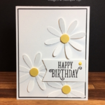 Simple Birthday Card with NEW Daisy Punch!