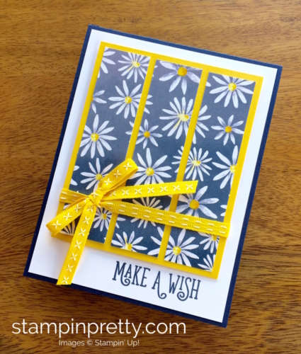 Stampin Up Delightful Daisy Happy Birthday Gorgeous Card Idea - Mary Fish StampinUp