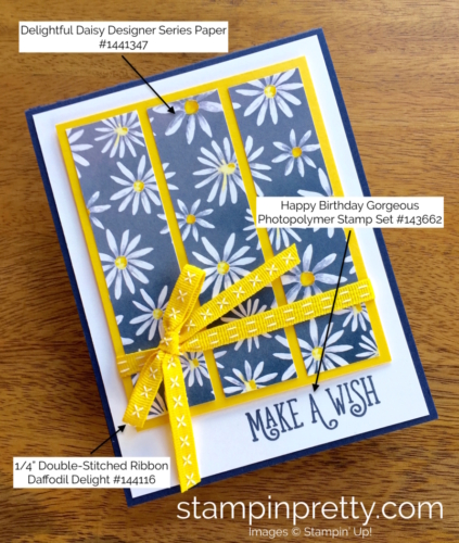 Stampin Up Delightful Daisy Happy Birthday Gorgeous Cards Ideas - Mary Fish StampinUp