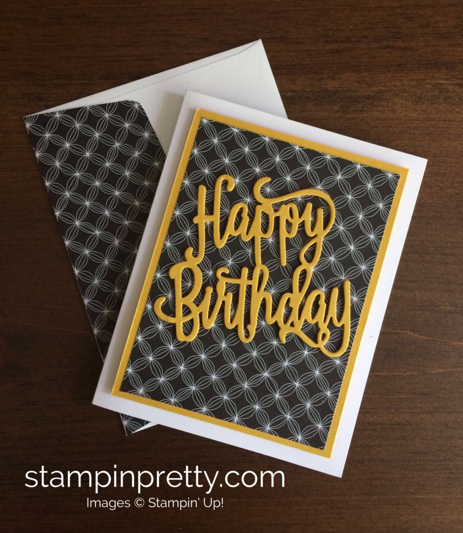 Clean classic happy birthday card stampin pretty stampin up happy birthday gorgeous birthday card idea mary fish stampinup bookmarktalkfo Gallery