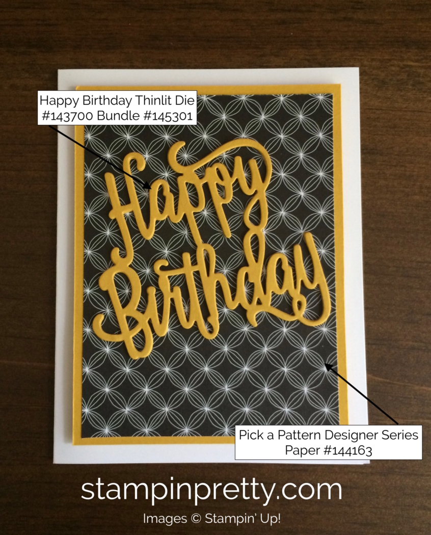Clean & Classic Happy Birthday Card