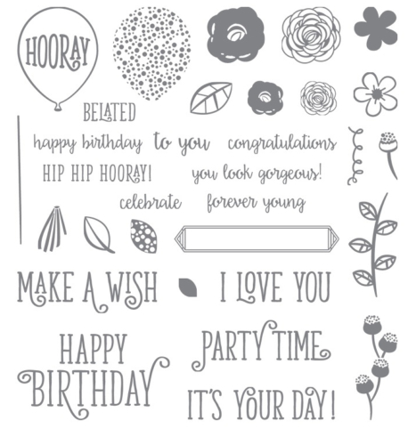 Stampin Up Happy Birthday Gorgeous Stamp Set