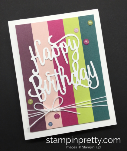 Stampin Up Happy Birthday Thinlit Die Cards Idea - Mary Fish StampinUp