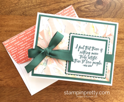 Stampin Up Just Add Text Friendship Card Idea - Mary Fish StampinUp