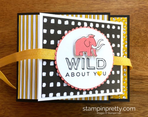 Stampin Up! Pieces & Patterns Dinosaur Juvenile Birthday Card Ideas - Mary Fish StampinUp
