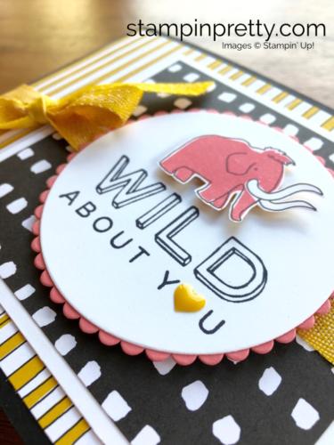 Stampin Up! Pieces & Patterns Dinosaur Juvenile Birthday Card - Mary Fish StampinUp