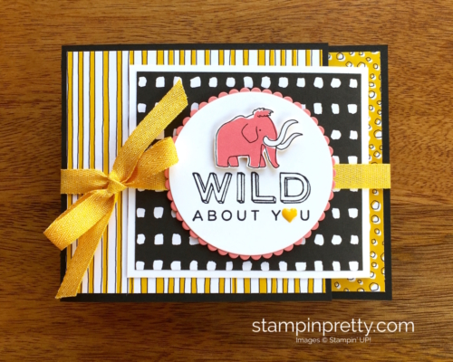 Stampin Up! Pieces & Patterns Dinosaur Juvenile Birthday Cards - Mary Fish StampinUp