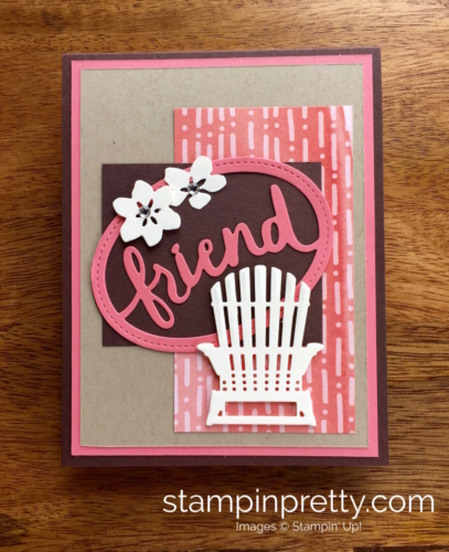 Stampin Up Seasonal Layers & Lovely Layers Thinlits Dies Friend Card Idea - Mary Fish StampinUp