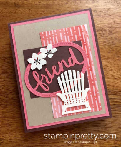 Stampin Up Seasonal Layers & Lovely Layers Thinlits Dies Friend Card Ideas - Mary Fish StampinUp