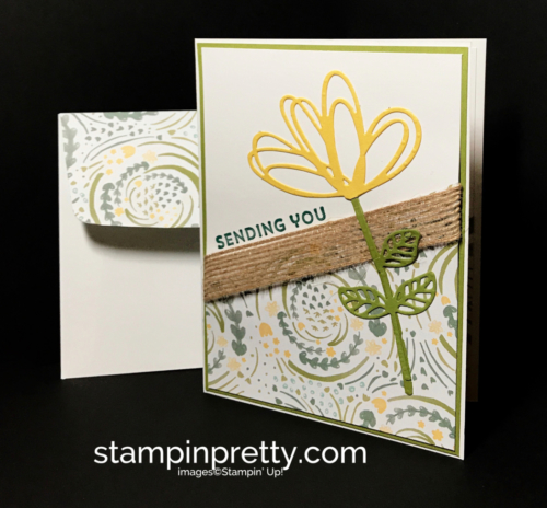 Stampin Up Sunshine Wishes Thinlits Delightful Daisy DSPLovely Inside & Out Just Because card Mary Fish Stampinup