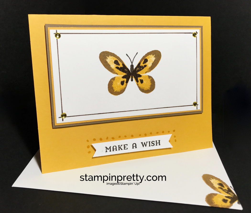 Simple Pretty Watercolor Wings Butterfly Card Stampin Pretty