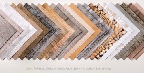 Stampin Up Wood Textures Designer Series Paper Stack - Mary Fish stampinup