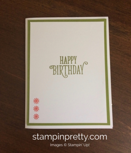 Stampinn Up Daisy Delight Birthday Cards Idea - Mary Fish stampinup