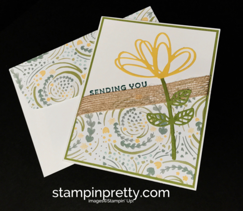 Stampinup Lovely Inside & Out Delightful Daisy DSP Just Because card Mary Fish Stampinup