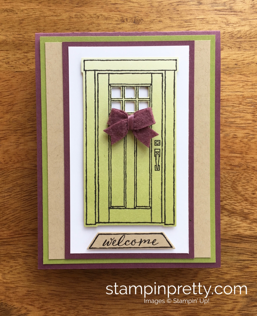 A Welcoming New Home Card Using At Home With You Stampin Pretty