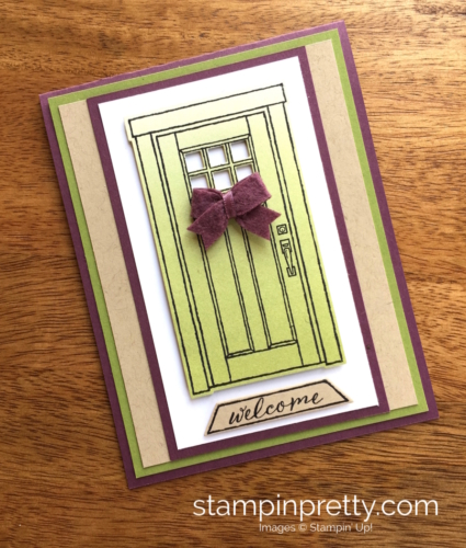 Stampin Up At Home with You Welcome New Home Card Idea - Mary Fish StampinUp