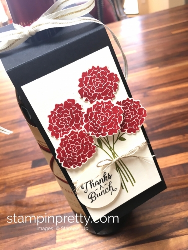 Stampin Up Beautiful Bouquet Bunch Thank Yous Wine Tag Idea - Mary Fish StampinUp