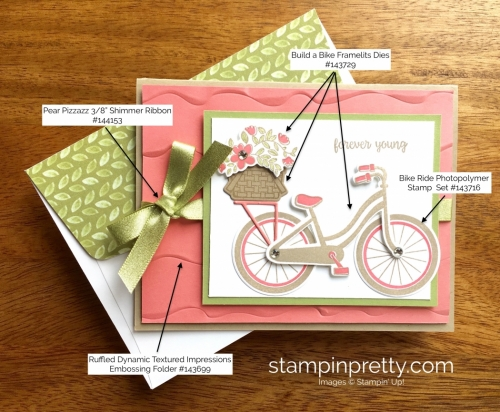 Stampin Up Bike Ride Friendship Birthday Card Idea - Mary Fish StampinUp Supply List
