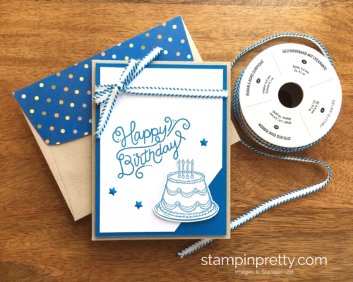 Stampin Up Birthday Delivery Birthday Card Idea - Mary Fish StampinUp Ribbon