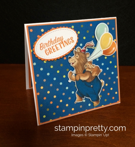 Stampin Up Birthday Delivery Birthday Card Idea - Mary Fish stampinup