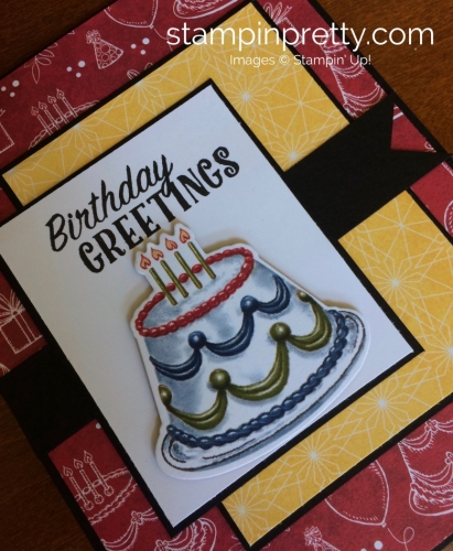 Stampin Up Birthday Delivery Birthday Cards Idea - Mary Fish stampinup