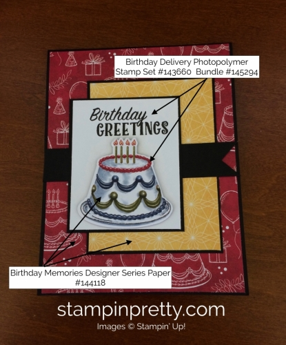 Stampin Up Birthday Delivery Birthday Cards Ideas - Mary Fish stampinup