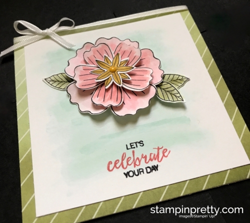 Stampin Up Bundle of Blossoms Blossom Builder Punch Delightful Daisy DSP Birthday Card Idea Mary Fish Stampinup SU