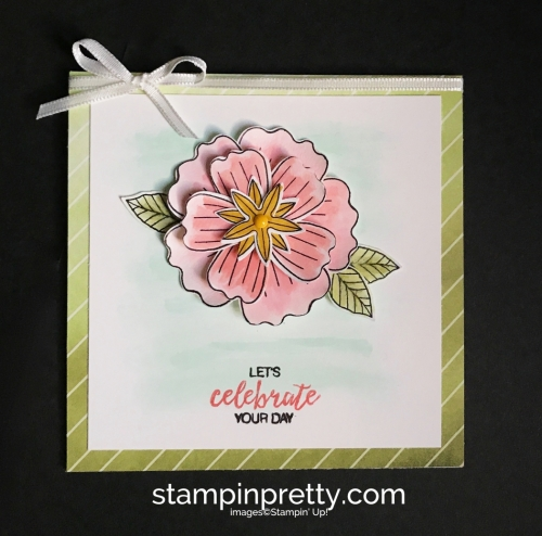 Stampin Up Bundle of Blossoms Blossom Builder Punch Delightful Daisy DSP Birthday Card Ideas Mary Fish Stampinup SU