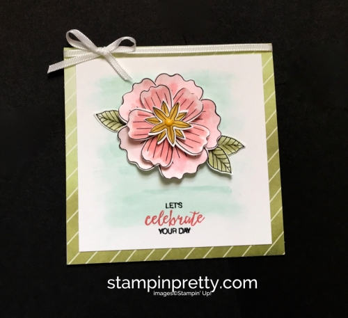 Stampin Up Bundle of Blossoms Blossom Builder Punch Delightful Daisy DSP Birthday Cards Idea Mary Fish Stampinup SU