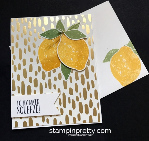 Stampin Up Bundle of Love DSP Lemon Zest Bundle Love cards idea Mary Fish Stampinup SU