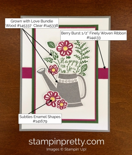 Stampin Up Grown with Love Love and Friendship Cards Ideas - Mary Fish stampinup