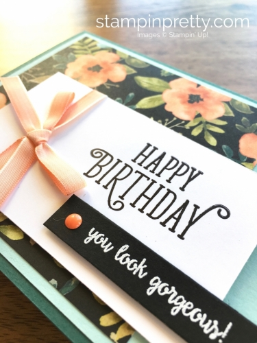Stampin Up Happy Birthday Gorgeous Card Idea - Mary Fish StampinUp