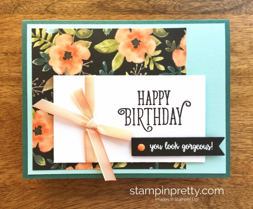 Stampin Up Happy Birthday Gorgeous Cards Idea - Mary Fish StampinUp