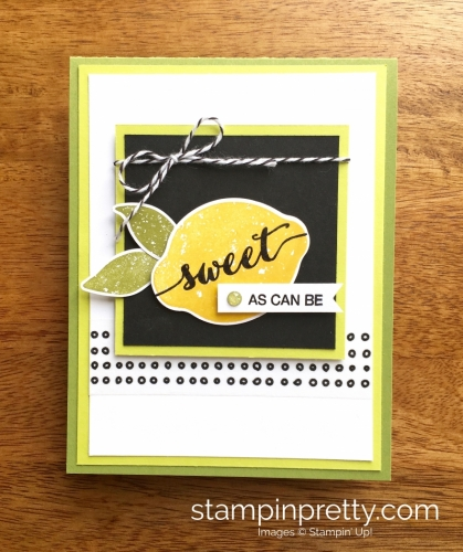 Stampin Up Lemon Zest Thank You Cards Idea - Mary Fish StampinUp