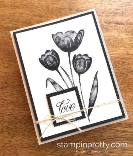 Stampin Up Tranquil Tulips Love Wedding Card Idea - Mary Fish StampinUp