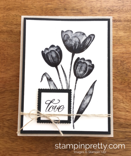 Stampin Up Tranquil Tulips Love Wedding Card Ideas - Mary Fish StampinUp